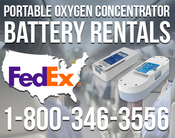 Portable Oxygen Concentrator Battery Rentals from Advanced Aeromedical at 1-800-346-3556